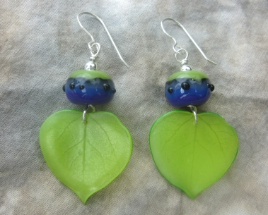 green violet lampwork earrings 3