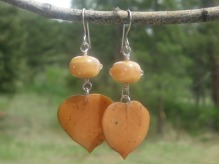 rust lampwork earrings
