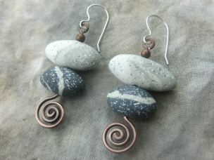 stone spiral earrings 1-3