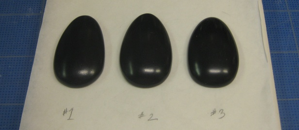 3 test cabochons