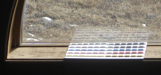 color swatches in window