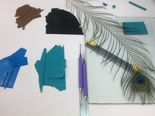 turquoise colors w feather