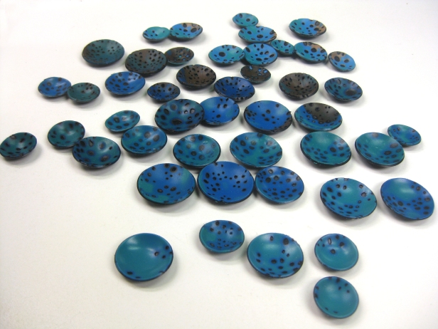 turquoise discs baked 1