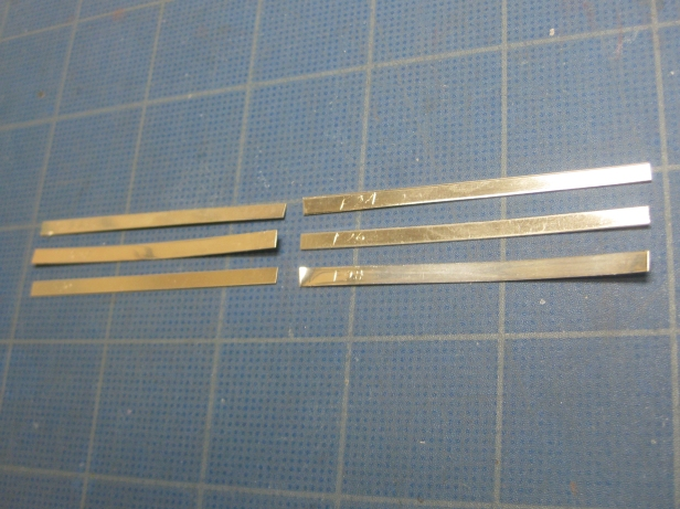 straight bezel strips marked